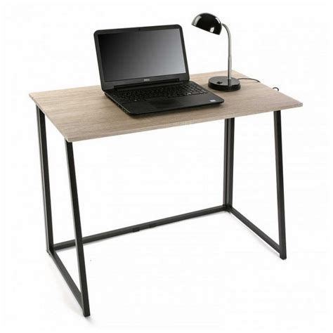 table bureau bois table de bureau pliante bois metal noir versa