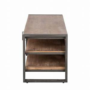 Tv Tisch Holz : lowboard industrial akazie massivholz tv unterschrank ~ Lateststills.com Haus und Dekorationen