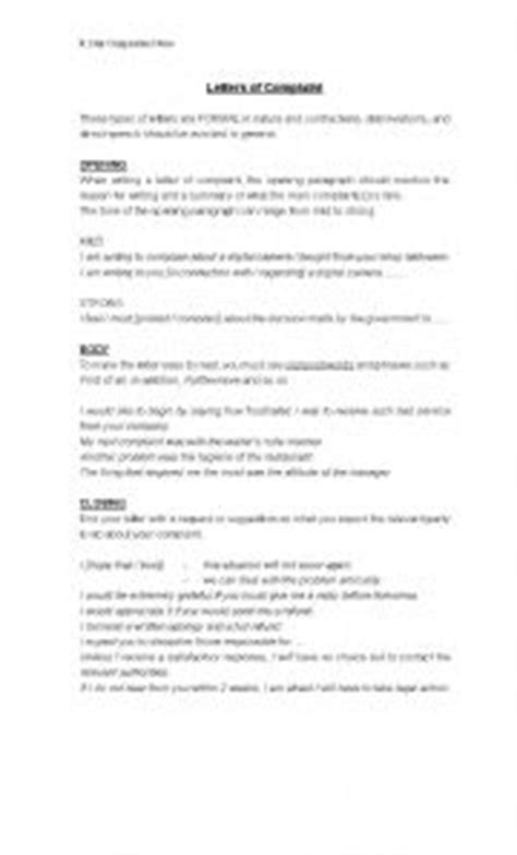How to write Complaint Letters - ESL worksheet by gumby59