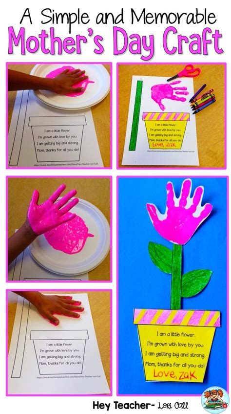 mothers day craft project grown  love hand prints