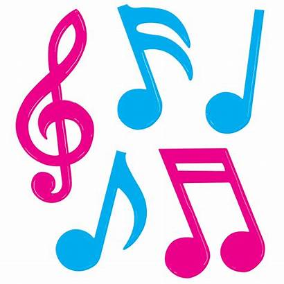 Musical Note Notes Clipart Pink Colorful Silhouette