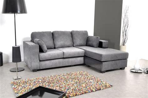 canapé d angle réversible canapé d 39 angle réversible microfibre gris nolan