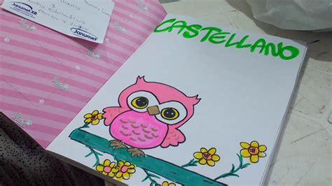 Cómo marcar cuadernos Dibujo de búho Precioso Para