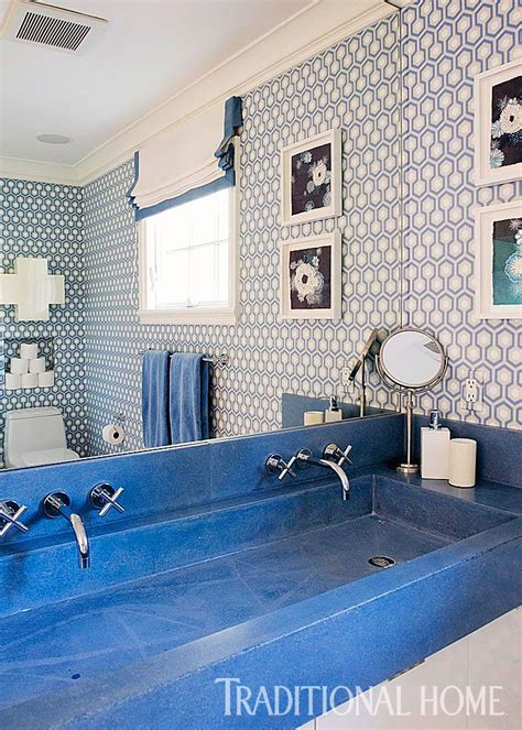 decorating ideas  blue  white bathrooms