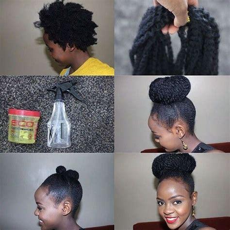 faux marley bun gorgeous 4c natural hair natural hair
