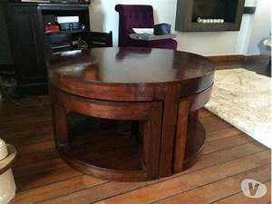 Table Basse Bois Exotique : table ronde en bois exotique en france clasf maison jardin ~ Dode.kayakingforconservation.com Idées de Décoration
