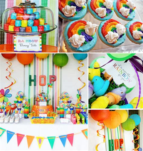 kara 39 s party ideas rainbow themed birthday party kara 39 s party ideas rainbow easter hop girl boy colorful