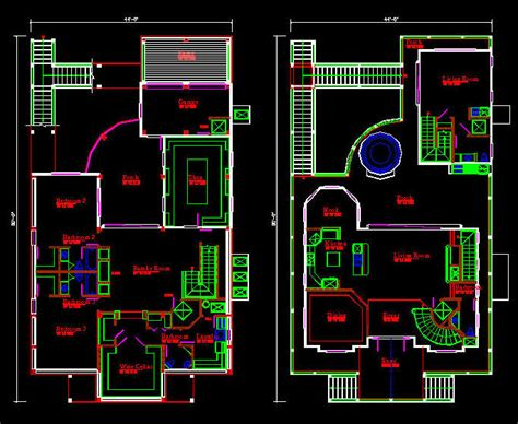 autocad house drawing  getdrawings