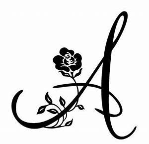 single letter monogram with flower decal sticker With single letter monogram stickers