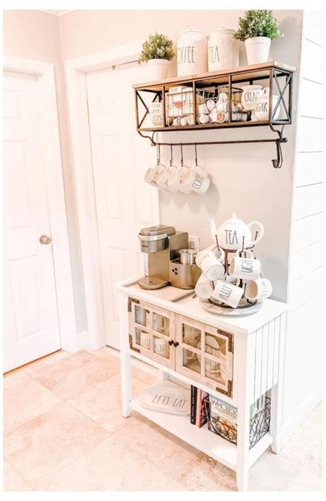 To keep the coffee, use 3 small baskets. You'll Love These Coffee Bar Ideas For the Home 2020 #coffee #station #ideas #small #modern ...