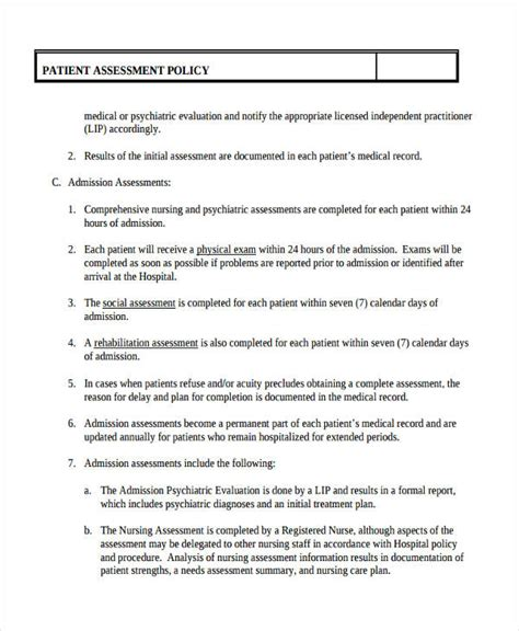 Comprehensive Health Assessment Program Template by Psychiatric Assessment Template Choice Image Template