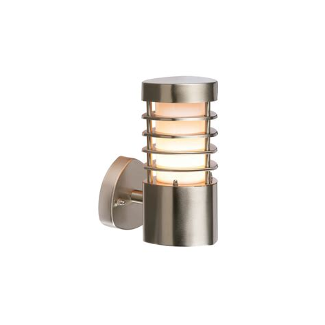 endon 13798 bliss 1 light exterior brushed steel wall