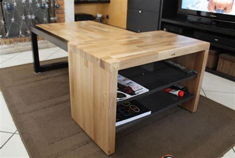 fabrication table en bois fabrication table basse bois m 233 tal r 233 alisation client laboutiquedubois