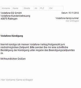 Vodafone Rechnung Ausdrucken : vodafone k ndigungsschreiben vorlage muster k ndigung ~ Themetempest.com Abrechnung
