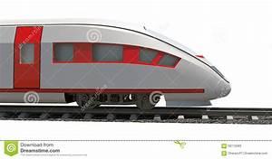 Modern train on white stock image. Image of ticket, travel ...