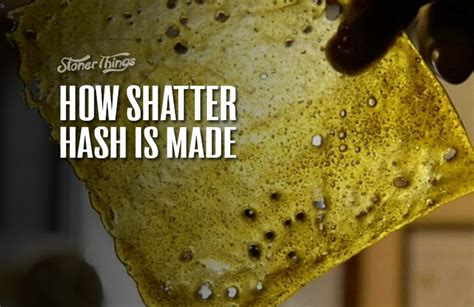 how to make hash how to make shatter hash the quick and easy method stoner things