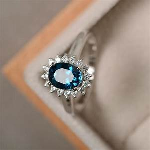 london blue topaz ring sterling silver blue gemstone With best gemstones for wedding rings