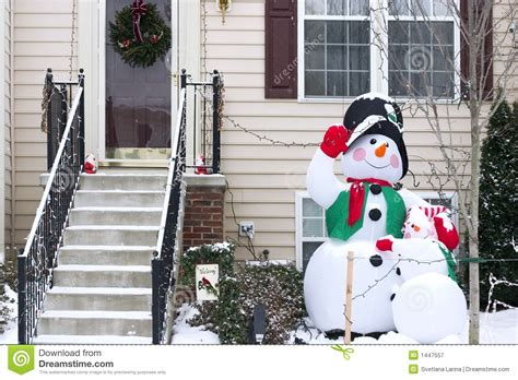 snowman family decoration royalty free stock photography image 1447557