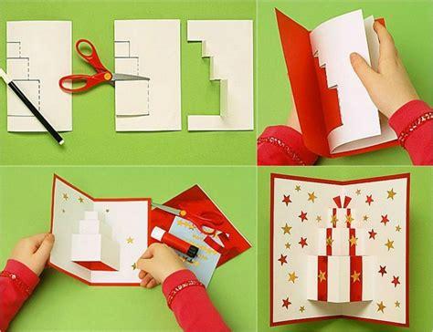 pop  weihnachtskarten selbst gestalten und dekorieren