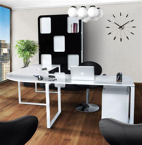bureau d駱ot grand bureau d 39 angle design en bois blanc anchorage