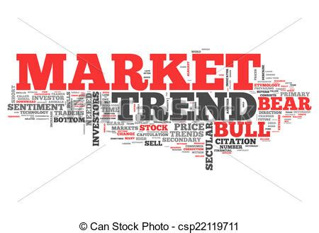 Clipart Of Word Cloud Market Trend  Word Cloud With