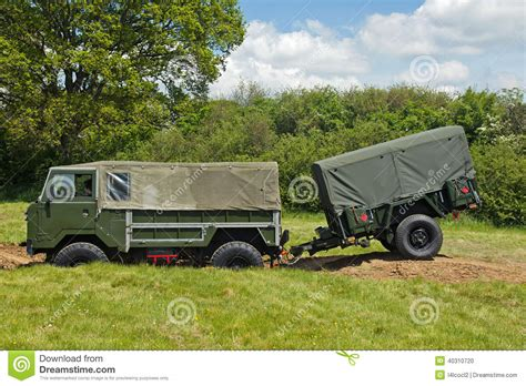 military trailer cer british army truck and trailer editorial image image of