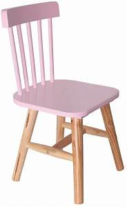 Chaise Bois Enfant : chaise enfant en bois style bistrot rose ~ Teatrodelosmanantiales.com Idées de Décoration