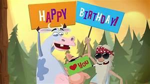 Happy Birthday - Animated Card - YouTube