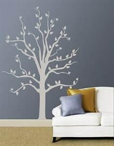 Baum An Wand Malen : 25 coole wandmuster ideen wanddekoration selbst basteln ~ Frokenaadalensverden.com Haus und Dekorationen