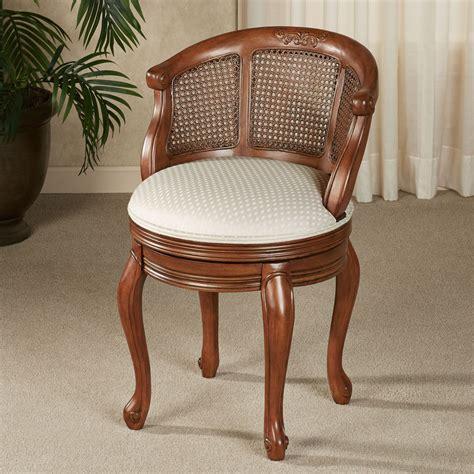 Vanity Table Chairs by Belhurst Cherry Swivel Vanity Chair
