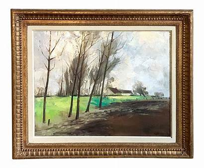 Oil Canvas Painting Framed Paintings Antique
