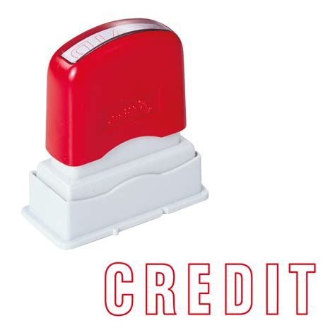 oa credit stamp en stock text phrase stamps direct
