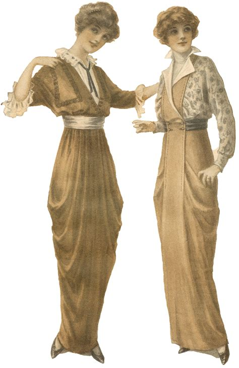 Antique Graphics Wednesday 1900s Womens Fashion