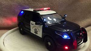 Picture Of Police Car With Lights 1 18 Sclae Chp Ford Explorer Diecast Model With Working