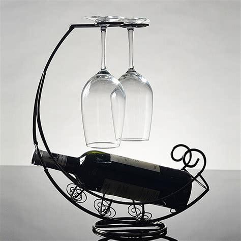 decorative retro metal wine bottle storage holder rack bar