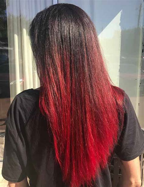 radical styling ideas   red ombre hair