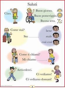 Italian Set of 4 Posters with Everyday Phrases Italian, French and Spanish Language Teaching