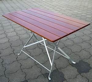 Gartentisch Metall Holz : gartentisch holz mit metallgestell ~ Frokenaadalensverden.com Haus und Dekorationen