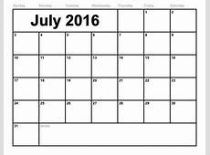 Easy To Print Monthly Calendar 2016 Free Calendar Template