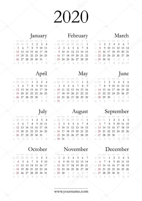 elegante calendario archivo imagenes vectoriales olania