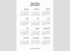 エレガントなカレンダー 2020 — ストックベクター © olania #96318818