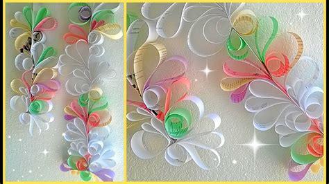 paper swirls room decoration diy youtube