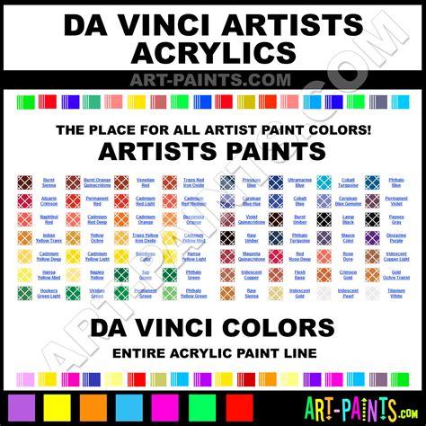 da vinci acrylic paint brands da vinci paint brands