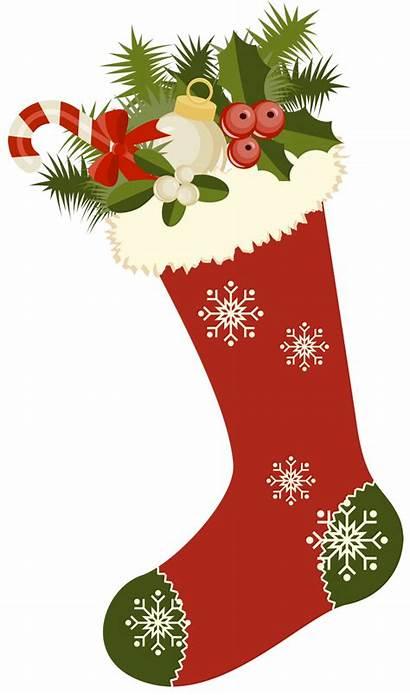 Christmas Stockings Clipart Retro Cards Clip Stocking