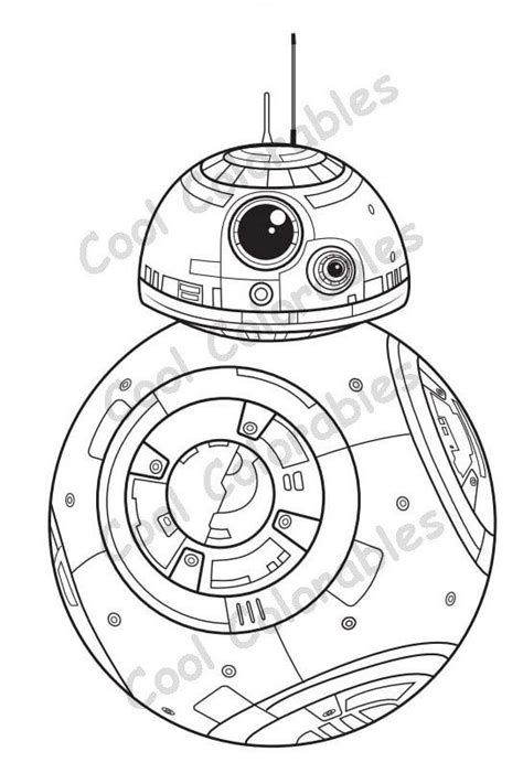 Bb8 Kleurplaat by Wars Bb8 Coloring Page Great For Or Adults Of