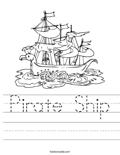 pirate ship worksheet twisty noodle