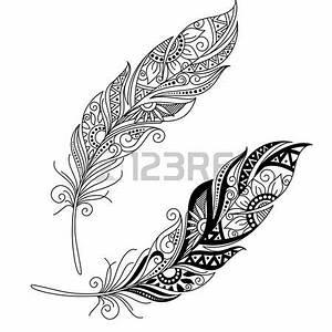 Weißes Henna Tattoo : vector peerless dekorative feder tribal design t towierung tattoo tattoo vorlagen tattoo ~ Frokenaadalensverden.com Haus und Dekorationen