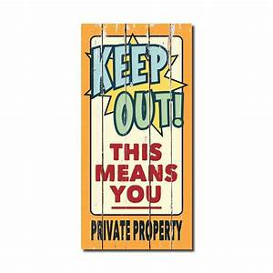rustic wood sign keep out 860 042 canada discount With sign letters canada