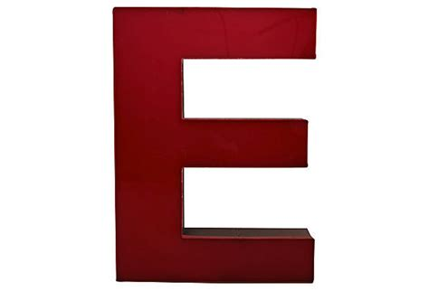vintage large lucite metal letter e sign omero home