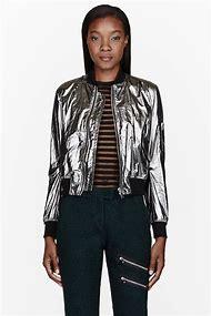 Metallic Silver Jacket Women